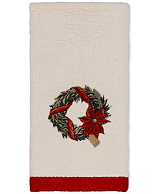 Avanti Farmhouse Holiday Embroidered Fingertip Towel
