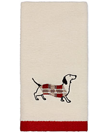 Avanti Happy Pawlidays Embroidered Fingertip Towel