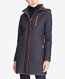 Petite Quilted Hooded Jacket, Created for Macy's