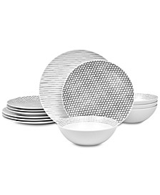 Hammock 12-Pc. Dinnerware Set , Created for Macy's