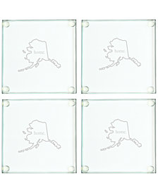 Cathy's Concepts Home State Glass Coasters , Set of 4