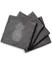Cathy's Concepts Slate Pineapple Coasters, Set Of 4
