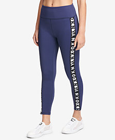 DKNY Sport Logo High-Waist Ankle Leggings, Created for Macy's