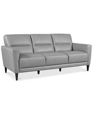 "Tosella 80"" Leather Sofa, Created For Macy's by Tosella Leather Sofa Collection, Created For Macy's"