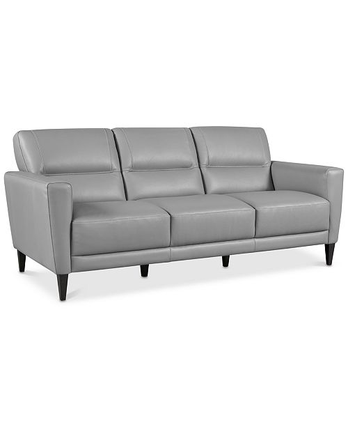 "Macys Sofa: Furniture Tosella 80"" Leather Sofa, Created For Macy's"