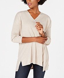 Petite V-Neck Tunic, Created For Macy's