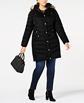 47d66683998 MICHAEL Michael Kors Plus Size Faux-Fur-Trim Hooded Down Coat