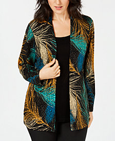JM Collection Petite Layered-Look Printed Top, Created for Macy's