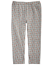 First Impressions Toddler Girls Checkered-Print Leggings, Created for Macy's