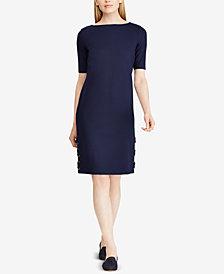 Lauren Ralph Lauren Lace-Up Elbow-Sleeve Dress