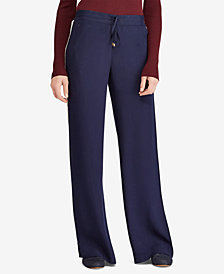 Lauren Ralph Lauren Side-Stripe Wide-Leg Pants