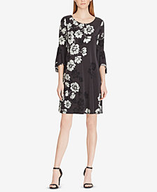 Lauren Ralph Lauren Petite Print Flutter-Sleeve Dress