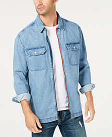 Tommy Hilfiger Men's Denim Logo Jacket Shirt, Created for Macy's