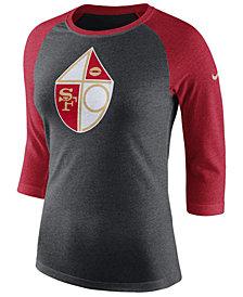 Nike Women's San Francisco 49ers Historic Logo Raglan T-Shirt