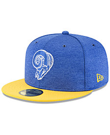 New Era Boys' Los Angeles Rams On Field Sideline Home 59FIFTY Fitted Cap