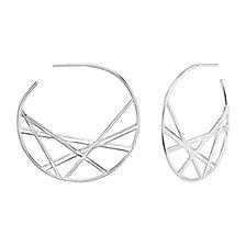 Unwritten Novelty Hoop Earrings in Sterling Silver