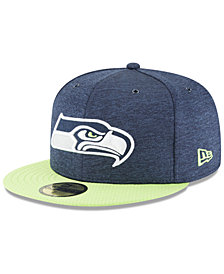 New Era Boys' Seattle Seahawks On Field Sideline Home 59FIFTY FITTED Cap