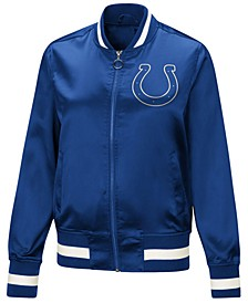 Women's Indianapolis Colts Touch Satin Bomber Jacket