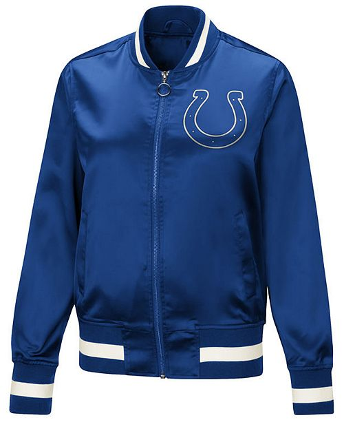 Touch by Alyssa Milano Women's Indianapolis Colts Touch Satin Bomber Jacket