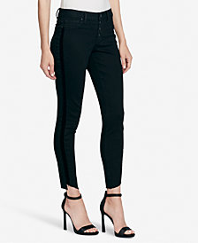 Jessica Simpson Juniors' Kiss Me Striped Ankle Skinny Jeans