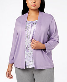 Alfred Dunner Plus Size Smart Investments Layered-Look Top