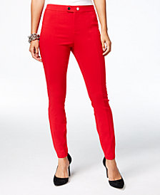 I.N.C. Seamed Extend-Tab Skinny Pants, Created for Macy's