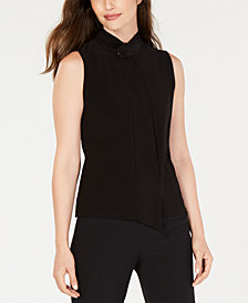 Anne Klein Sleeveless Tie-Neck Top