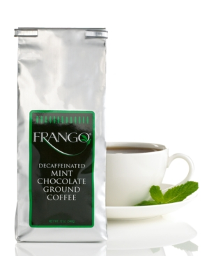 Frango Flavored Coffee, 12 oz Decaffeinated Chocolate Mint Flavored Coffee