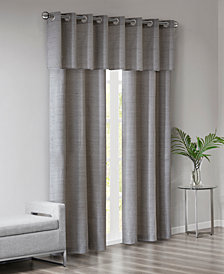 510 Design Pike Grasscloth Room Darkening Grommet 40 X 84 3 Pc Window Curtain Set