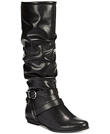 White Mountain Fairfield Wide-Calf Boots, Created for Macy's