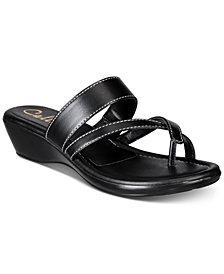 Callisto Barnaget Slide Thong Wedge Sandals, Created for Macy's