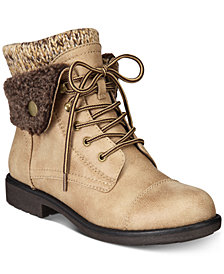 Cliffs by White Mountain Decker Lace-Up Booties, Created for Macy's