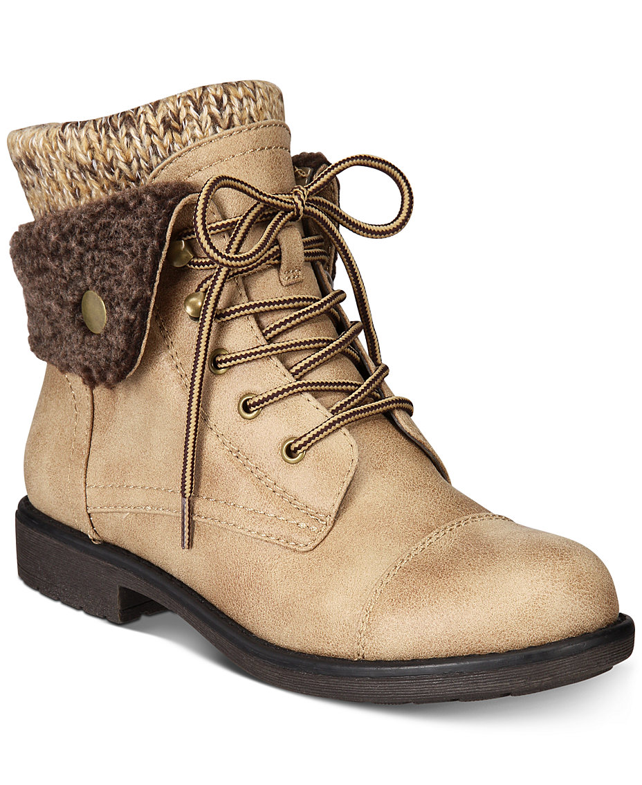 ab9087c2a72 White Mountain Cliffs by Decker Lace-Up Booties, Created for Macy's ...