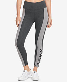 DKNY Sport Colorblocked Logo High-Waist Leggings, Created for Macy's