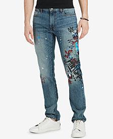 Tommy Hilfiger Denim Men's Oscar Stretch Graffiti Jeans