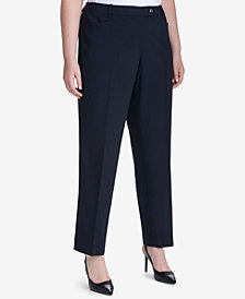 Calvin Klein Plus Size Straight-Leg Pants