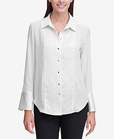 Calvin Klein Contrast-Cuff Shirt