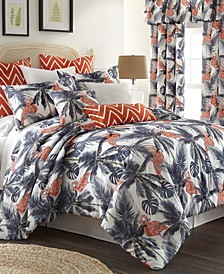 Flamingo Palms Duvet Cover Set-Full