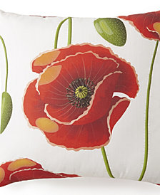 "Poppy Plaid Square Pillow 20""x20"" - Poppy Pattern"