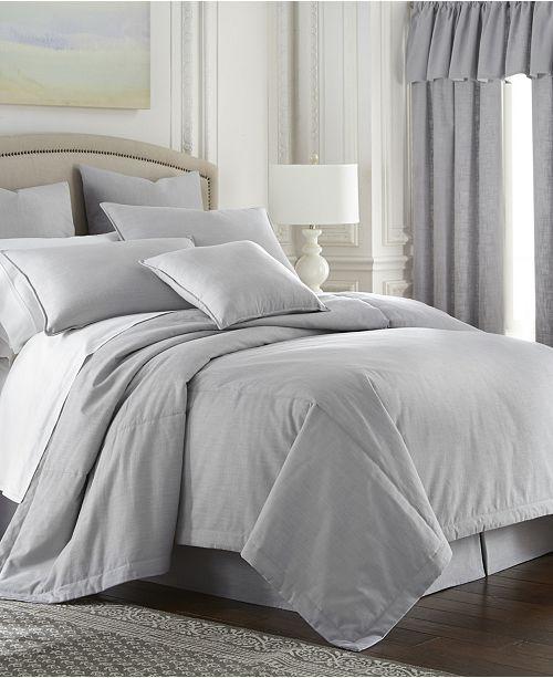 Colcha Linens Cambric Gray Duvet Cover-Queen