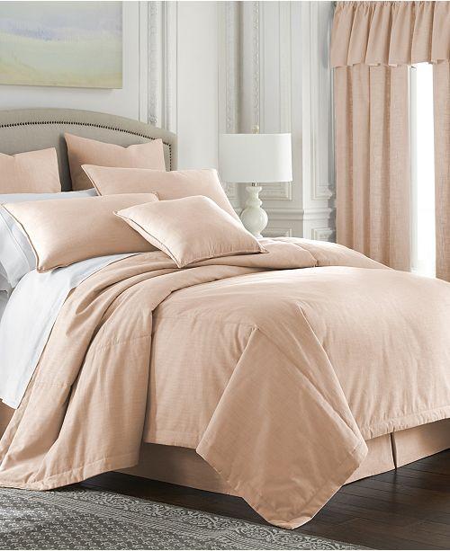 Colcha Linens Cambric Peach Comforter-Full
