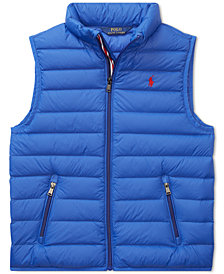 Polo Ralph Lauren Big Boys Quilted Solid Down Vest