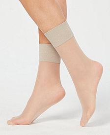 HUE® Metallic-Band Anklet Socks