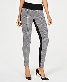 INC Petite Houndstooth Front Ponte Back Leggings, Created for Macy's