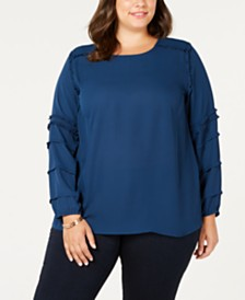 Love Scarlett Plus Size Tiered-Sleeve Top