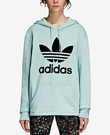adidas Originals Cotton Relaxed Logo Hoodie