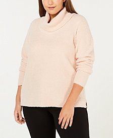 Calvin Klein Plus Size Cowl-Neck Sweater