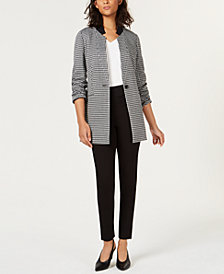 Bar III One-Button Blazer, V-Neck Top & Skinny Pants, Created for Macy's
