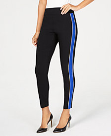I.N.C. Side-Stripe Skinny Pants, Created for Macy's