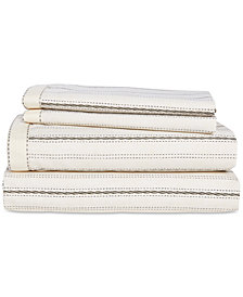 Lauren Ralph Lauren Taylor Cotton 200-Thread Count 4-Pc. Stripe Queen Sheet Set